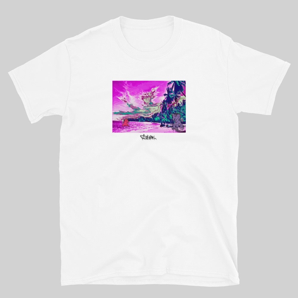 """ YYINGG YYANGG VACATION "" TEE / WHITE / 0 EFFFORT"