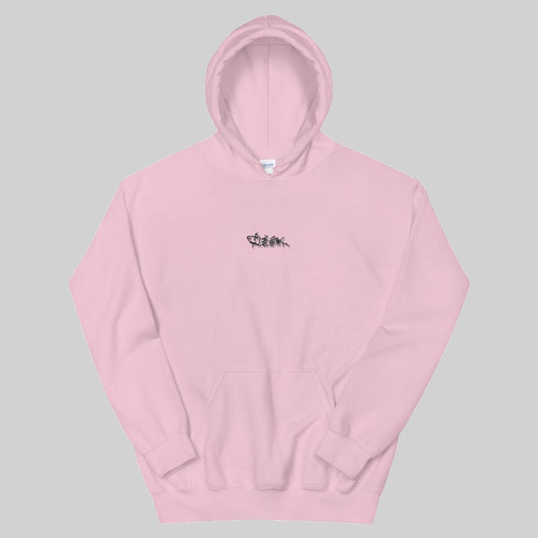 """ n44 "" HOODIE / GREY-PINK / BY WASTED YOUTH"