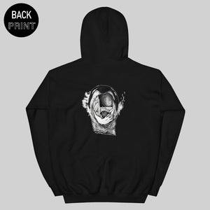 """ FROM CITIES MOUTH "" HOODIE / BLACK / BY MAZEYE"
