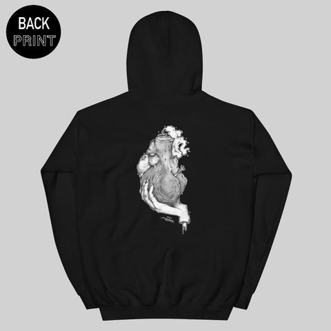 """ HEARTBONG "" HOODIE / BLACK / BY MAZEYE"