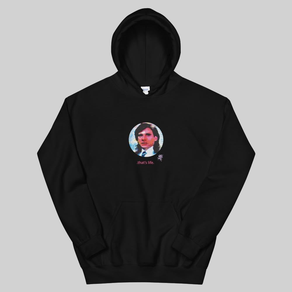 """ LIFE "" HOODIE / BLACK / BY WASTED YOUTH"