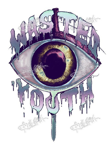 """ THE EYE "" TEE / BLACK / BY WASTED YOUTH"
