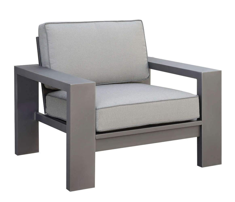 Cecropia Contemporary Padded Patio Arm Chairs (Set of 2)