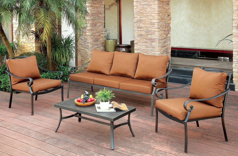 Sapo Contemporary 4-Piece Patio Set
