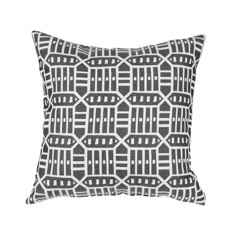 Square Outdoor Accent Lounge Throw Pillow - Roland Charcoal | Monkey Patio
