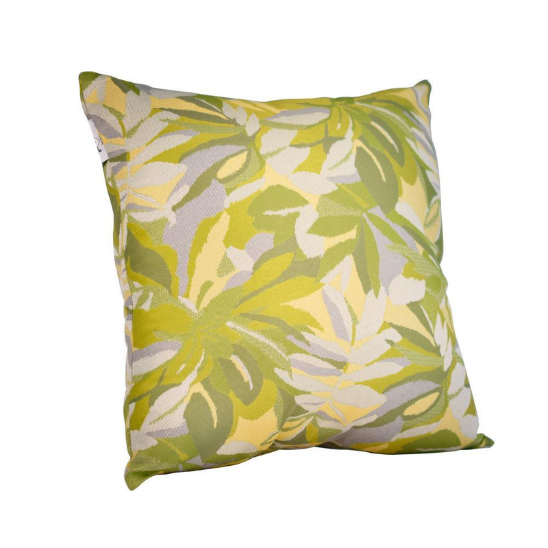 Monkey Patio Dewey Green Square Accent Lounge Throw Pillow