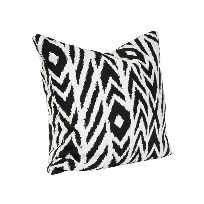 Monkey Patio Fire Island Charcoal Square Accent Throw Pillow