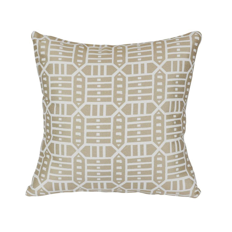 Monkey Patio Roland Hemp Square Outdoor Accent Lounge Throw Pillow
