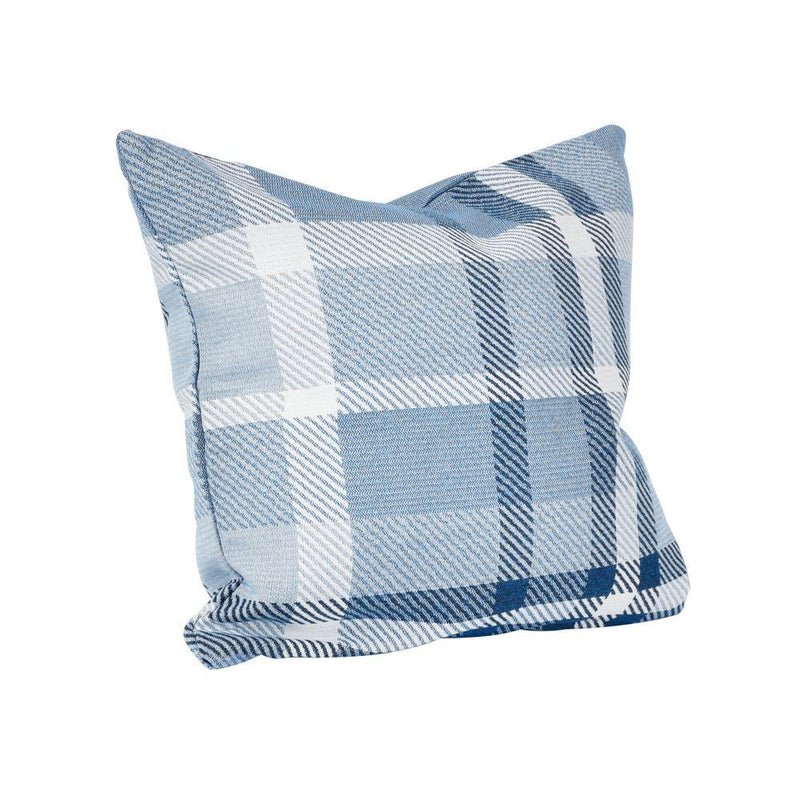 Monkey Patio Tartan Midnight Square Outdoor Accent Throw Pillow