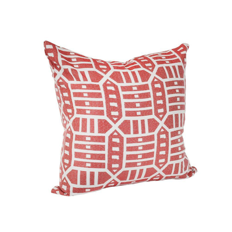 Monkey Patio Roland Red Square Outdoor Accent Throw Pillow