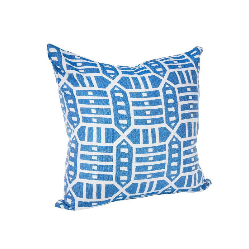 Monkey Patio Roland Blue Square Outdoor Accent Throw Pillow
