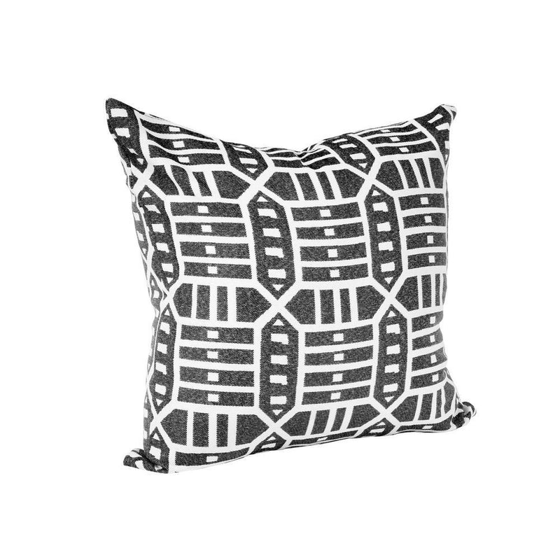 Monkey Patio Roland Charcoal Square Outdoor Accent Throw Pillow