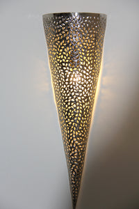 Large Cone-Shaped Sconce Wall Light (Gold)