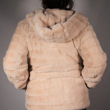 Load image into Gallery viewer, Jacket- Faux  Fur - with Hood - Beige
