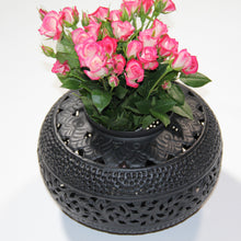 Load image into Gallery viewer, Medium Perforated Tyre Candlelight Cutout Center - matte Black