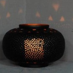 Medium Perforated Tyre Candlelight -Matte Black