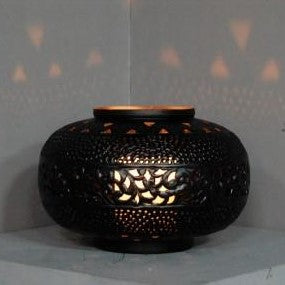 Medium Perforated Tyre Candlelight Cutout Center - matte Black