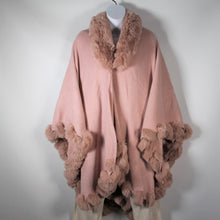 Load image into Gallery viewer, Cape - Wrap Faux Fur- Soft Pink