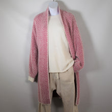 Load image into Gallery viewer, Cardigan Long Sleeve Knit wool Blend Zigzag Pattern Pink
