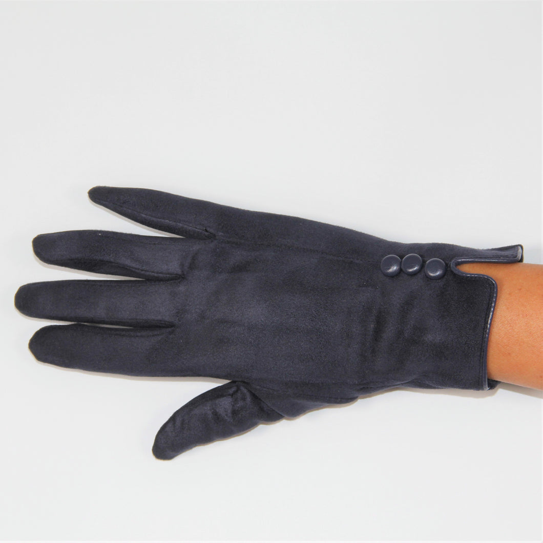 Glove Faux Suede Navy