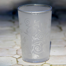 Load image into Gallery viewer, Moroccan Bomboniere Votive Tea Glass - Set of 6 (Frost Silver Swirl)