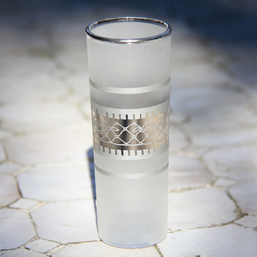 Set 6 - Shot Glass - Silver Frost - Vodka - Made in Morocco