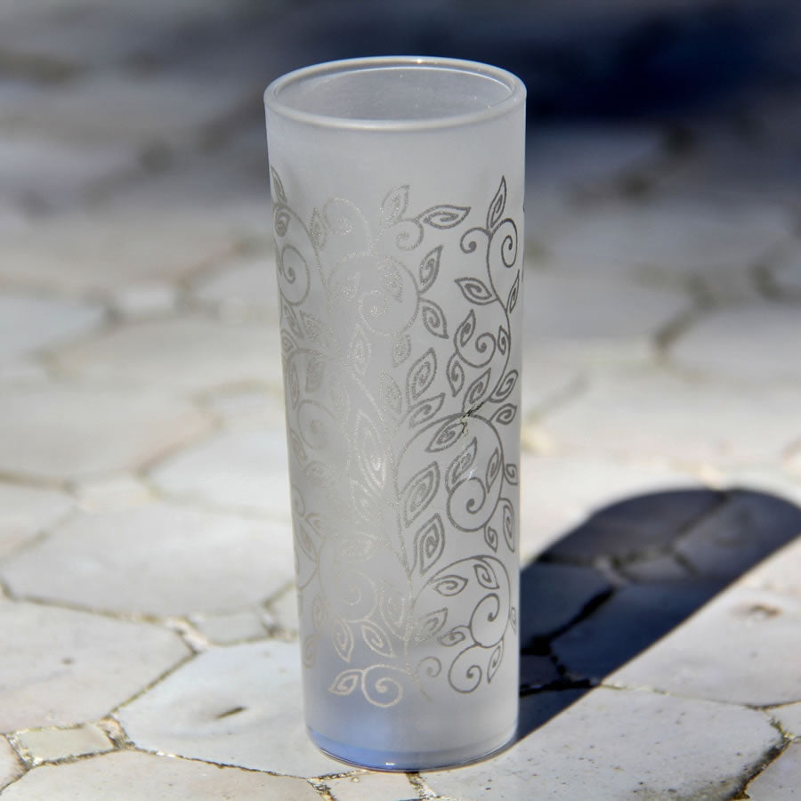 Set 6 - Shot Glass - Silver Frost - Vodka Glass - Moroccan