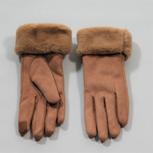 Load image into Gallery viewer, Glove - Faux Fur Vegan Suede - Peach