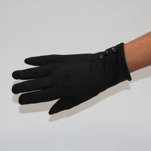 Glove Vegan Suede Black