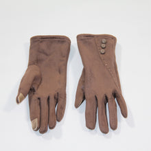 Load image into Gallery viewer, Glove Faux Suede Taupe