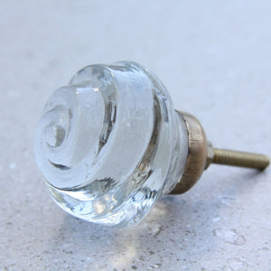 Clear Glass - Rose Door Drawer Knob