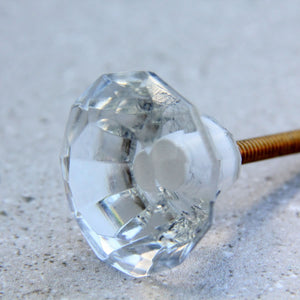 Diamond Glass - Clear 3cm - Door Drawer Knob