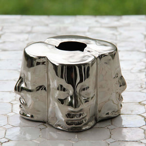 Modern Four Face Design Ashtray (Gold or Silver)
