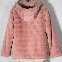 Load image into Gallery viewer, Jacket- Faux  Fur - with Hood - Soft pink