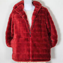 Load image into Gallery viewer, Jacket - Faux  Fur - with Hood - Red