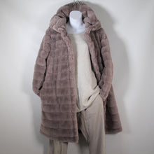 Load image into Gallery viewer, Jacket- Faux Fur Long Hood - Light Grey