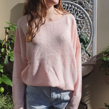 Load image into Gallery viewer, Jumper- Knit Wool Round Neck - Pale Pink