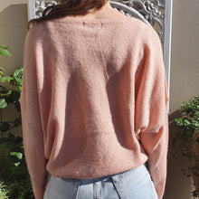Load image into Gallery viewer, Jumper- Knit Wool Round Neck -Peach