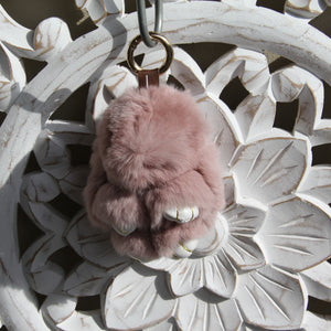 Keyrings - Rabbit -Soft Burgundy