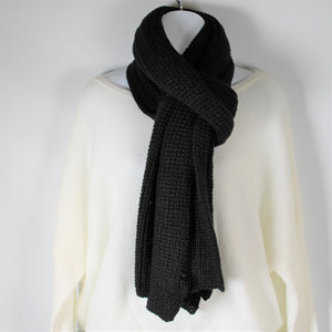 Scarf knitted - Black