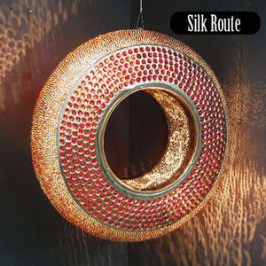 Vertical Ring Light with Red Beads
