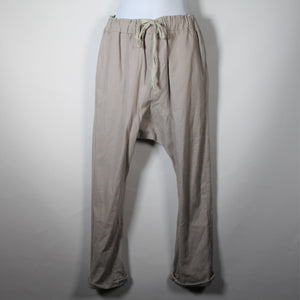 Pants - Linen drop Crutch - Light Grey