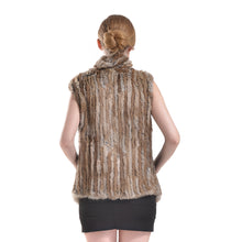 Load image into Gallery viewer, Vest - Rabbit Fur Long - Natural Brown