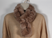 Load image into Gallery viewer, Scarf Luxury Soft Rex Rabbit Multi Ball Soft Brown