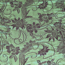 Load image into Gallery viewer, Scarf Pashmina - Green Flower