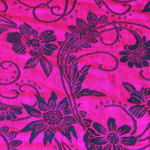 Scarf Pashmina - Hot Pink Flower