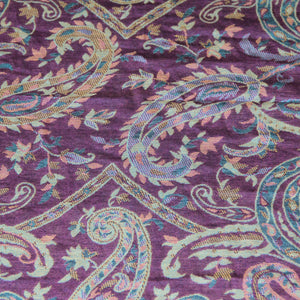 Scarf -Paisley -Purple