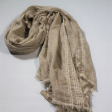 Load image into Gallery viewer, Scarf- Linen -Beige