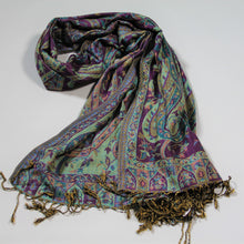 Load image into Gallery viewer, Scarf -Paisley -Purple