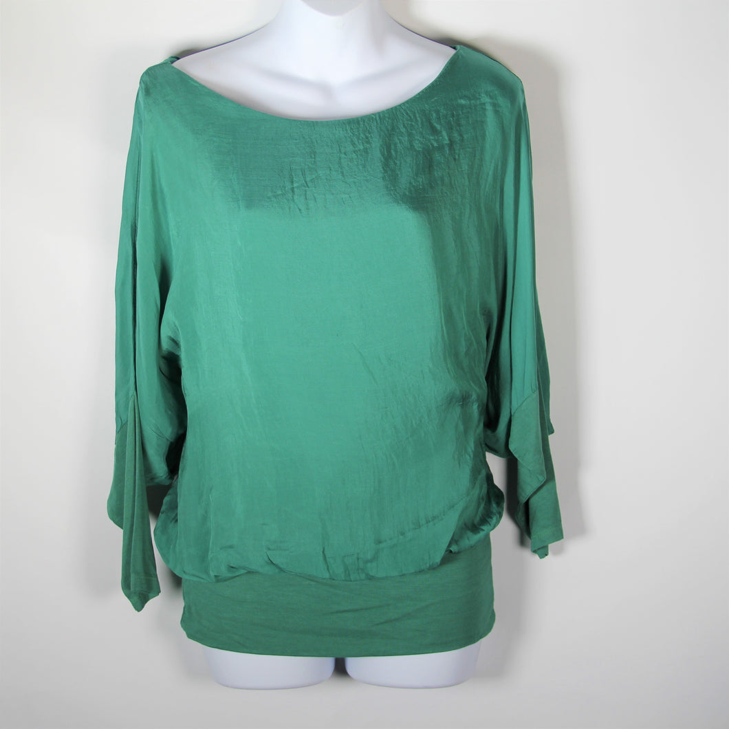 Tops- Italian Silk- Emerald
